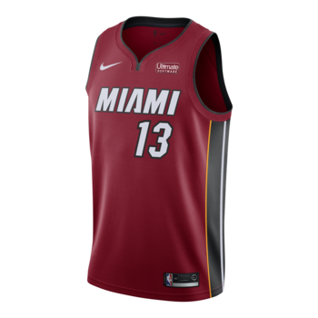 Bam Adebayo Nike Miami HEAT Statement Red Swingman Jersey
