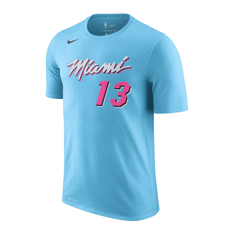 Bam Adebayo Nike Miami HEAT Youth ViceWave Name & Number Tee