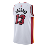 Bam Adebayo Nike Miami HEAT Association White Youth Swingman Jersey - 2