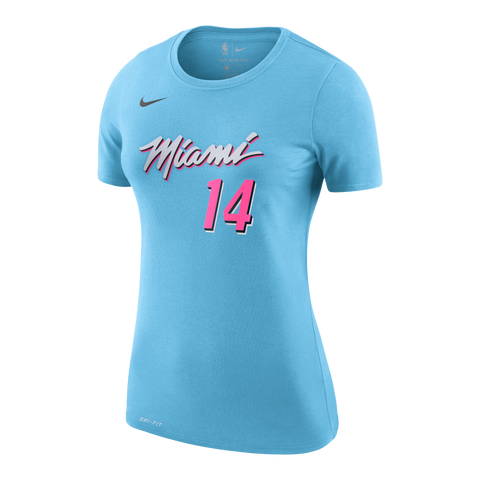 Tyler Herro Nike Miami HEAT Ladies ViceWave Name & Number Tee