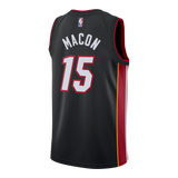 Daryl Macon Nike Miami HEAT Youth Icon Black Swingman Jersey - 2