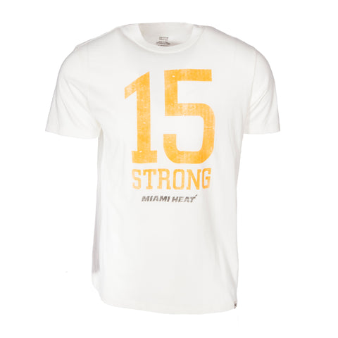 '47 Brand Miami HEAT 15 Strong Tee White