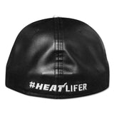 New Era Miami HEAT Black Metallic Silver Fitted Hat - 2