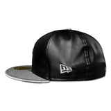 New Era Miami HEAT Black Metallic Silver Fitted Hat - 3