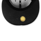 New Era Miami HEAT Black Metallic Silver Fitted Hat - 4