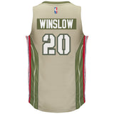 Justise Winslow Miami HEAT adidas Home Strong Swingman Jersey - 2