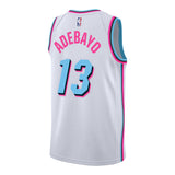 Bam Adebayo Nike Miami HEAT Vice Uniform City Edition Youth Swingman Jersey - 2