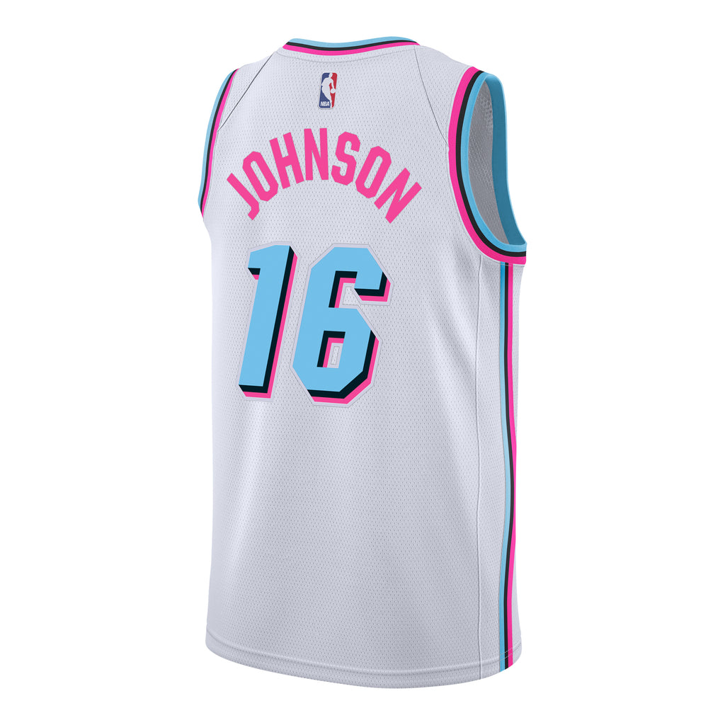 huge discount ad9ea 19fc1 James Johnson Nike Miami HEAT Vice Uniform City Edition Youth Swingman  Jersey