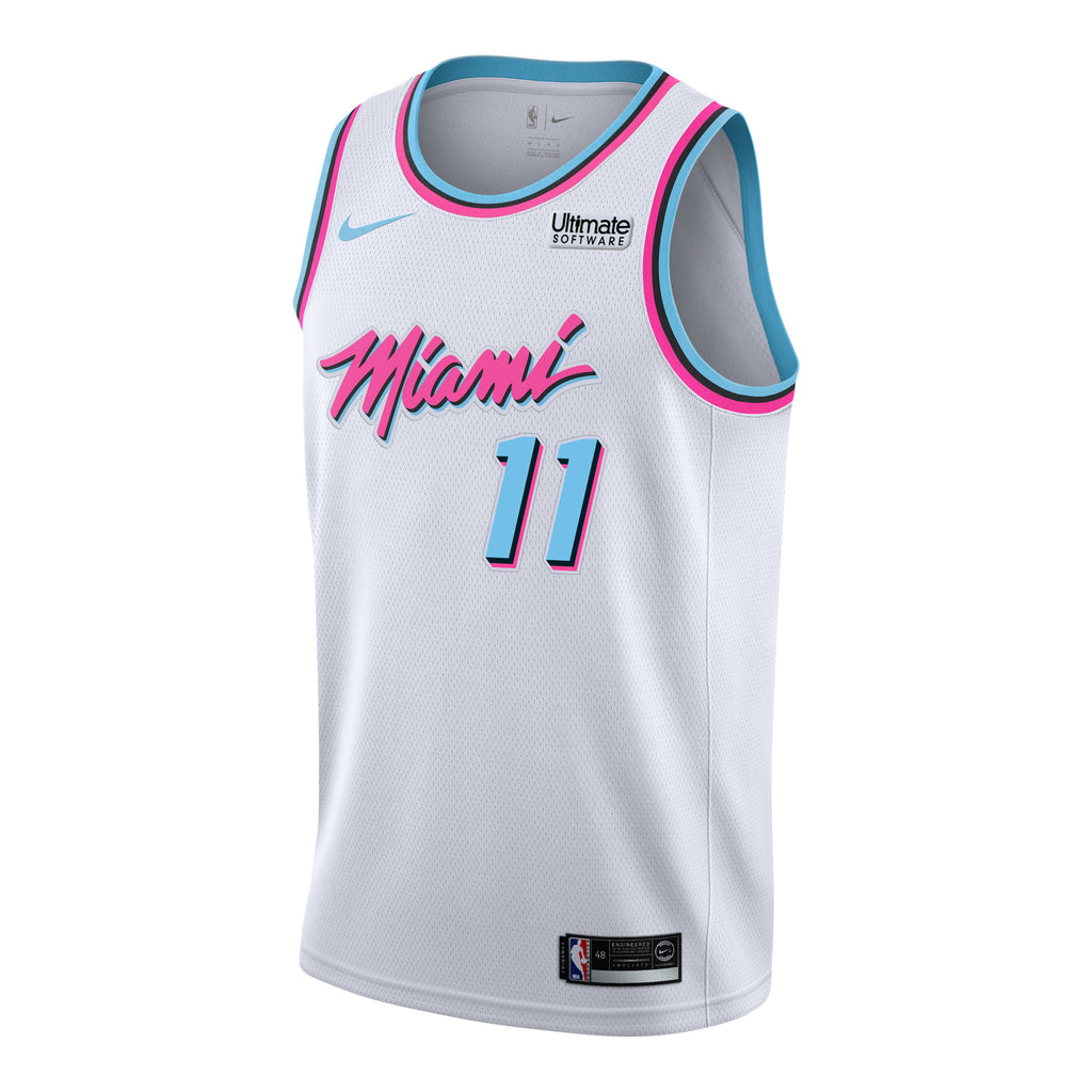 Dion Waiters Nike Miami HEAT Vice Uniform City Edition Youth Swingman Jersey - featured image