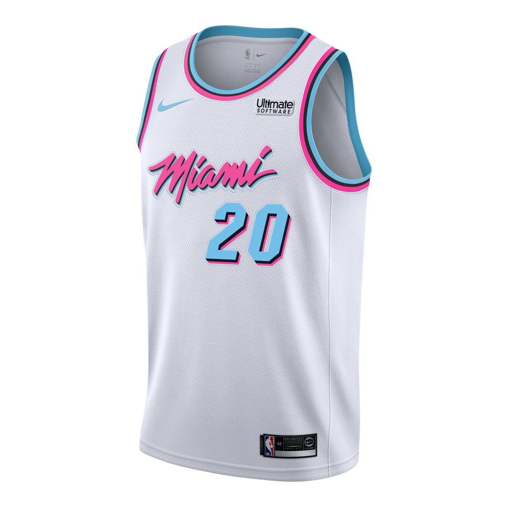 Justise Winslow Nike Miami HEAT Youth Vice Uniform City Edition Swingman Jersey - featured image