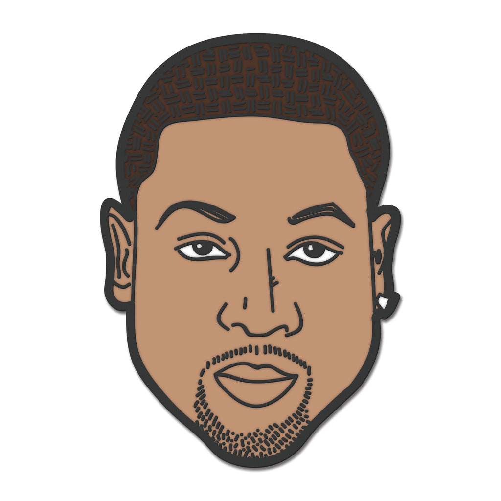 Court Culture Wade Face Pin - featured image