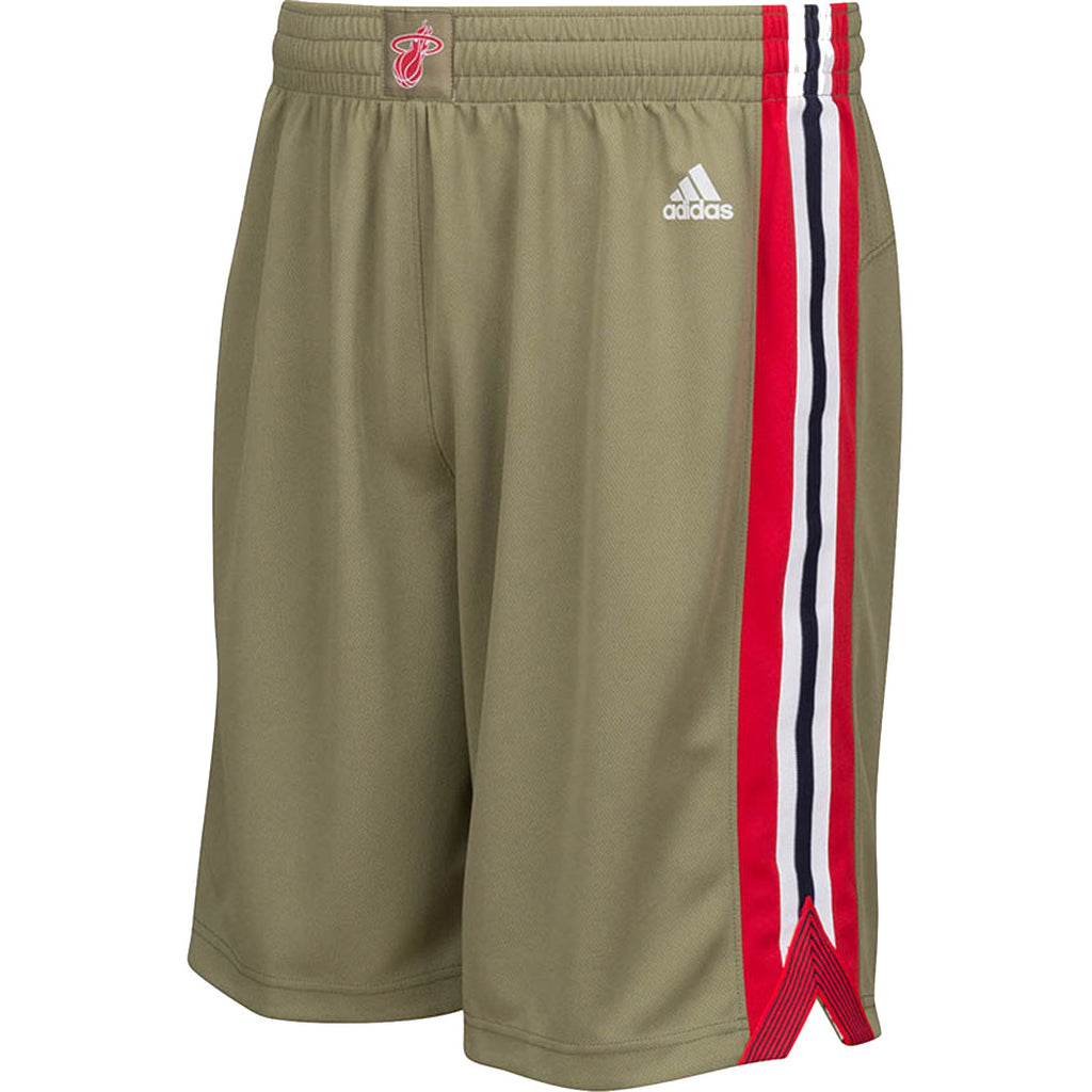 adidas Miami HEAT Youth Home Strong Swingman Shorts - featured image