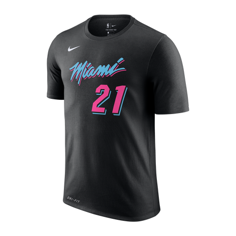 Hassan Whiteside Nike Miami HEAT Vice Nights Name & Number Tee