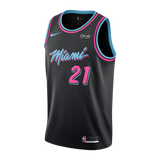 Hassan Whiteside Nike Miami HEAT Youth Vice Nights Swingman Jersey - 1