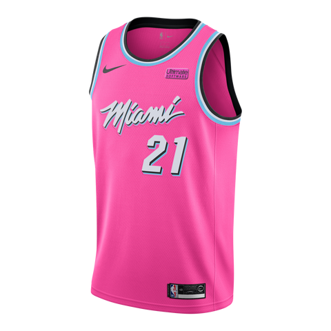 Hassan Whiteside Nike Youth Sunset Vice Swingman Jersey
