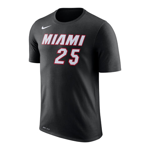 Kendrick Nunn Nike Miami HEAT Icon Black Name & Number Tee