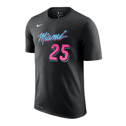 Kendrick Nunn Nike Miami HEAT Vice Nights Name & Number Tee