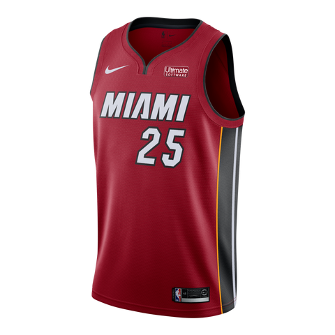 Kendrick Nunn Nike Miami HEAT Youth Statement Red Swingman Jersey