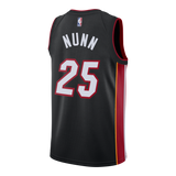 Kendrick Nunn Nike Miami HEAT Youth Icon Black Swingman Jersey - 2