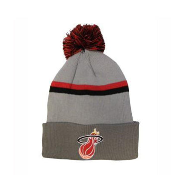 Mitchell and Ness Miami HEAT Slate Beanie