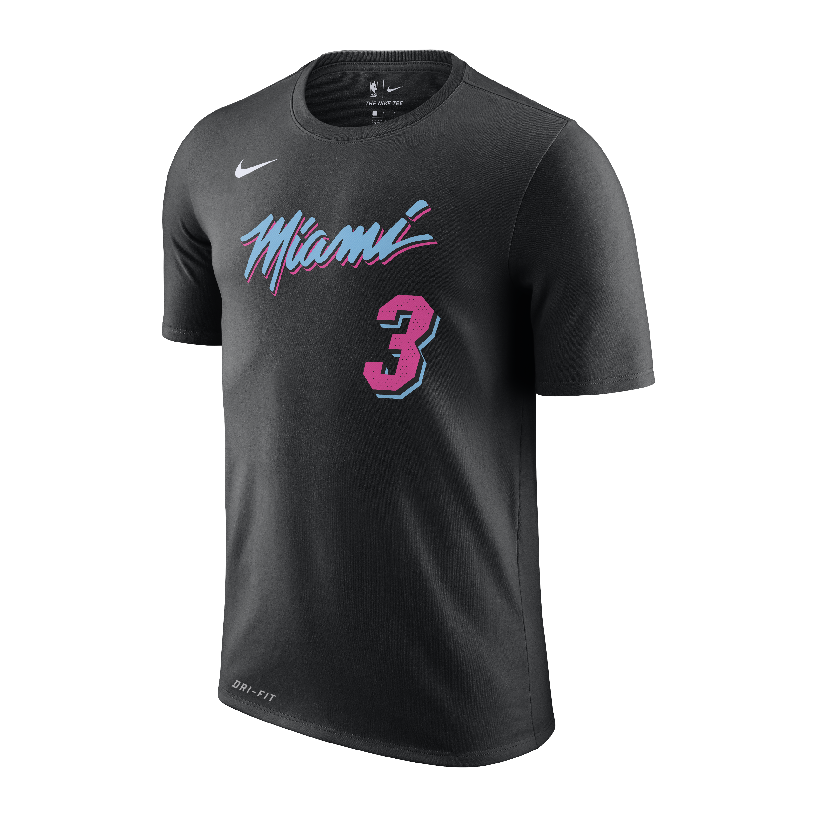 8219bdbd1 Dwyane Wade Nike Miami HEAT Youth Vice Nights Name   Number Tee - featured  image