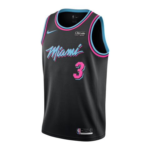 c5119dfc4147 Dwyane Wade Nike Miami HEAT Vice Nights Swingman Jersey