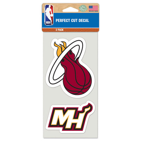 Wincraft Miami HEAT Two Pack Decal Set