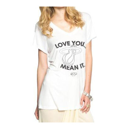 Peace Love World Miami HEAT Love You Mean It V-Neck - featured image