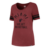'47 Brand Miami HEAT Ladies Borderland Halfback Tee - 1