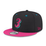 New ERA #3 Dwyane Wade Black Snapback - 3
