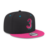New ERA #3 Dwyane Wade Black Snapback - 4