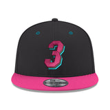 New ERA #3 Dwyane Wade Black Snapback - 1