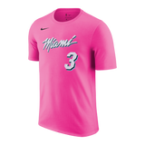 Dwyane Wade Nike Sunset Vice Name & Number Tee - 1