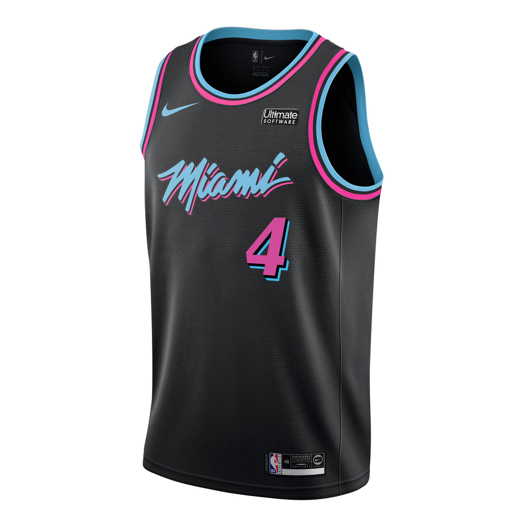 KZ Okpala Nike Miami HEAT Youth Vice Nights Swingman Jersey - featured image