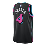 KZ Okpala Nike Miami HEAT Youth Vice Nights Swingman Jersey - 2