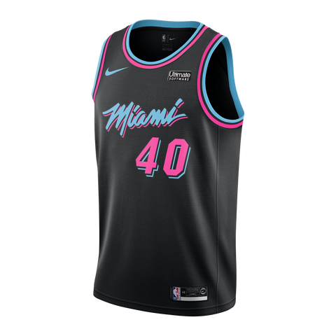 Udonis Haslem Nike Miami HEAT Youth Vice Black City Edition Swingman Jersey