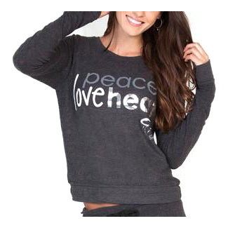 Peace Love World Miami HEAT Ladies Long Sleeve Comfy Tee