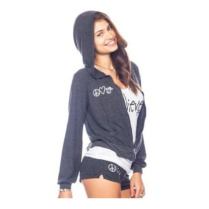 Peace Love World Miami HEAT Ladies Hoodie - featured image