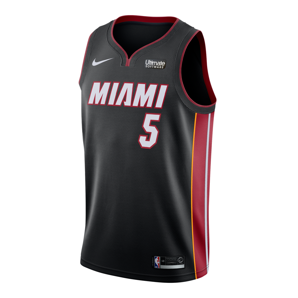 Derrick Jones Jr. Nike Miami HEAT Youth Icon Black Swingman Jersey - featured image