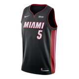 Derrick Jones Jr. Nike Miami HEAT Youth Icon Black Swingman Jersey - 1