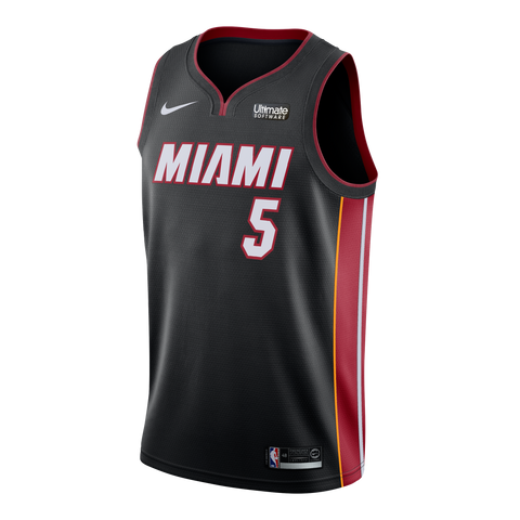 Derrick Jones Jr. Nike Miami HEAT Icon Black Youth Swingman Jersey