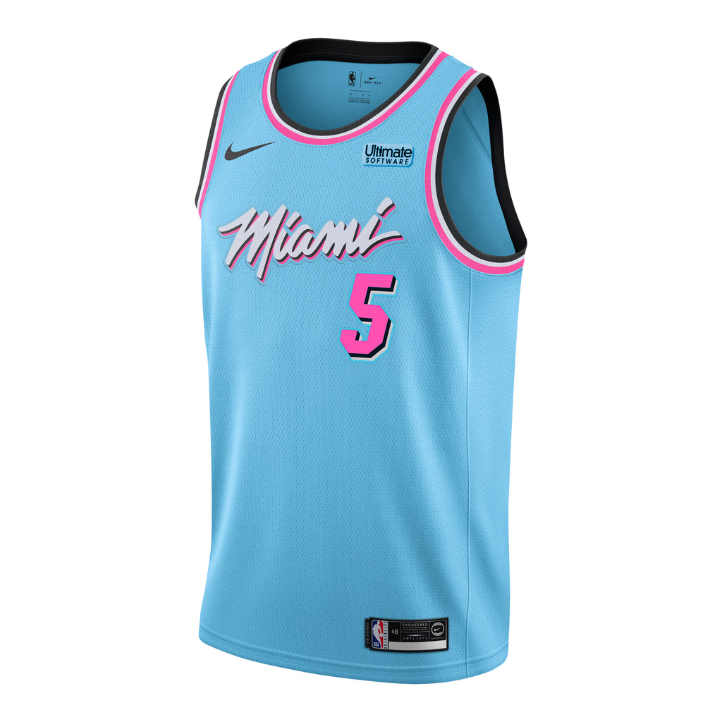 Derrick Jones Jr. Nike Miami HEAT ViceWave Swingman Jersey - featured image