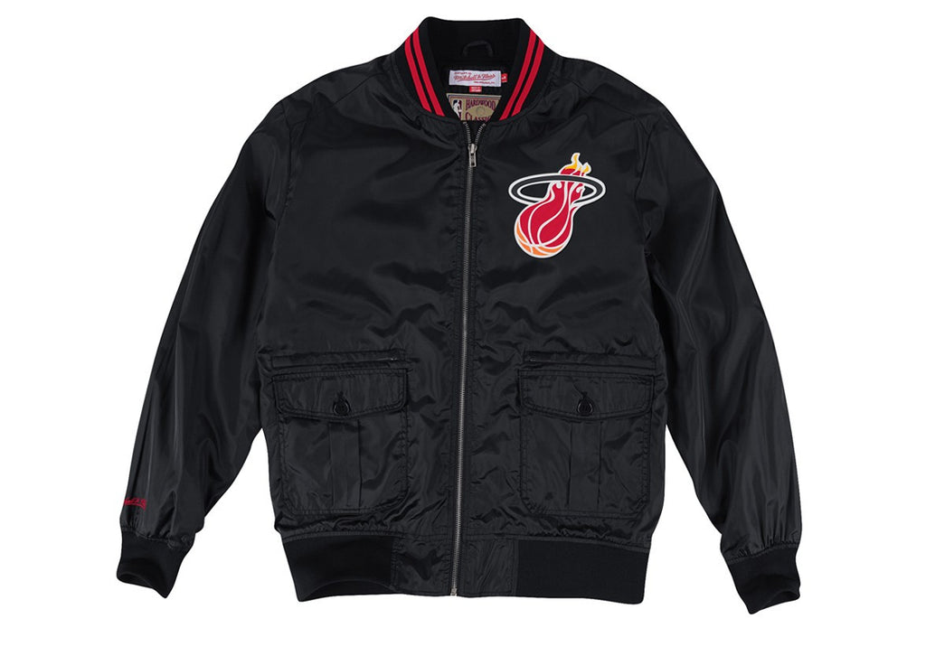 Mitchell and Ness Miami HEAT Play Caller Woven Jacket - featured image