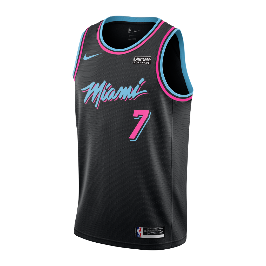Goran Dragic Nike Miami HEAT Youth Vice Nights Swingman Jersey - featured image