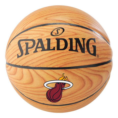Spalding Miami HEAT Wood Grain Basketball