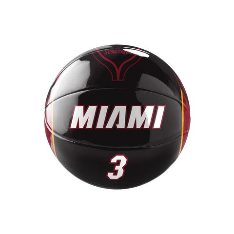 Spalding Miami HEAT Wade Underglass Mini Ball