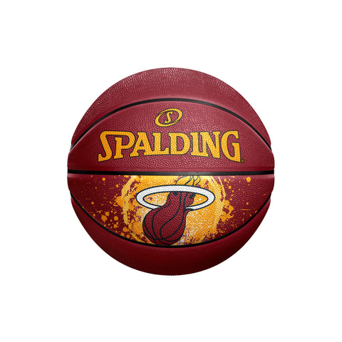 Spalding Miami HEAT Ring Splatter Mini Ball