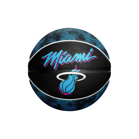 Spalding Miami HEAT Vice Nights Warmup Mini Ball