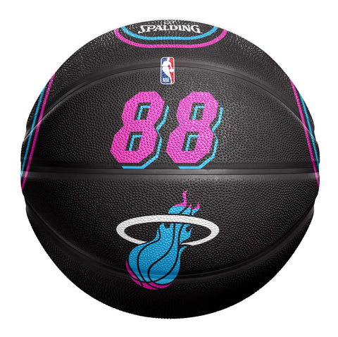 Spalding Miami HEAT Vice Nights Jersey Ball