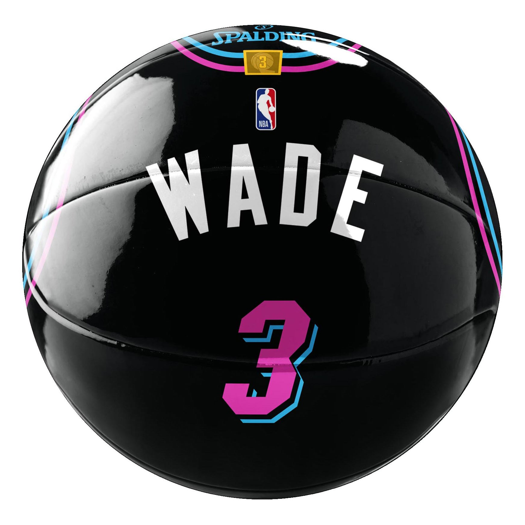 pretty nice 64b22 843db Spalding Miami HEAT Vice Nights Wade Underglass Jersey Ball